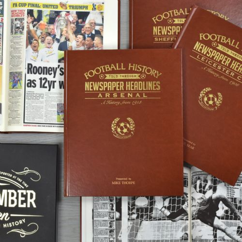 A4 Leatherette Football Newspaper Book With Colour Pages